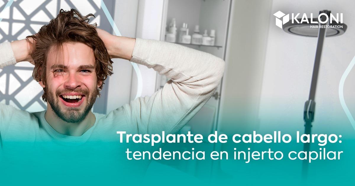 trasplante de cabello largo