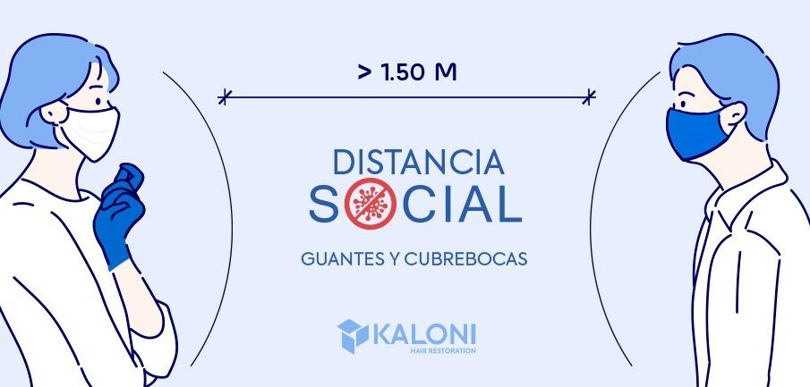 distancia social nueva normalidad Kaloni