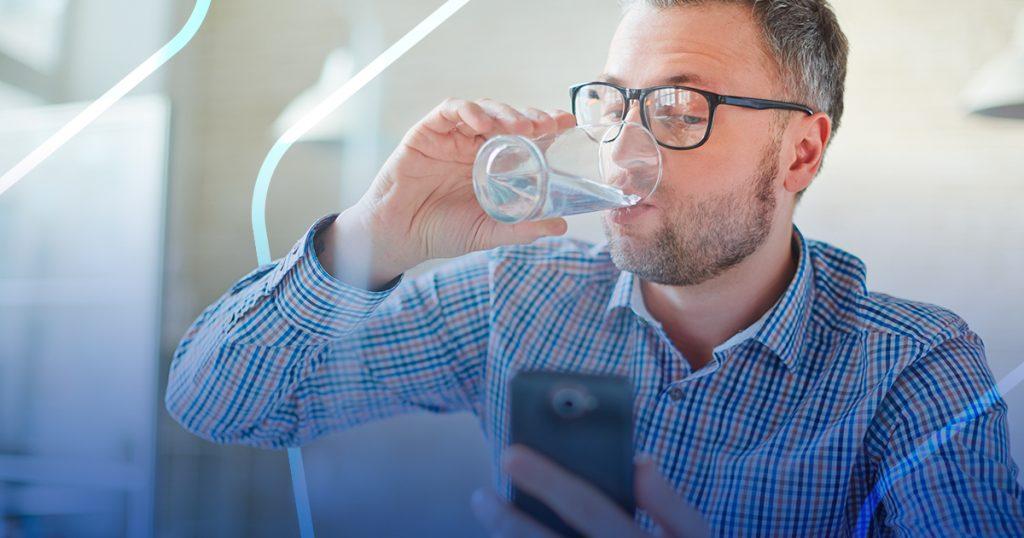 tomar más agua con apps