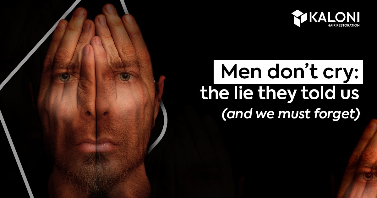 Men don't cry: the lie they told us
