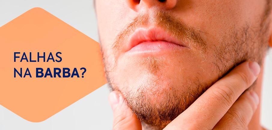 falhas na barba?